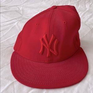 MLB NY Yankees Logo New Era Fit 59 50 Hat 7 1/8